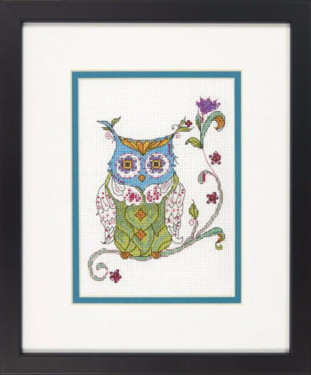 """70-65163 • Набор для вышивания крестом """"Цветущая сова"""" • """"Blooming owl"""" • """""""" DIMENSIONS"""