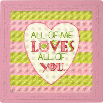 """70-65166 • Набор для вышивания крестом """"Все во мне любит .."""" • """"All of Me"""" DIMENSIONS"""