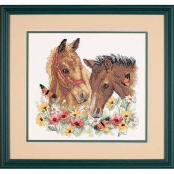 """70-73882 • Набор для вышивания крестом """"Лошадиная дружба"""" • """"Horse Friends"""" DIMENSIONS"""