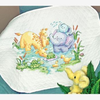 """70-73924 • Набор для вышивания одеяла крестом """"Маленький пруд"""" • """"Little Pond Quilt"""" DIMENSIONS"""