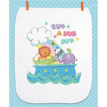 """70-74368 • Набор для вышивания одеяла крестом """"Барабанный бой"""" • """"Rub-a-Dub Quilt"""" DIMENSIONS"""