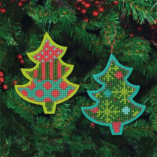 """72-08241 • Набор для вышивания крестом """"Веселые деревья. Украшения"""" • """"Jolly Tree"""" DIMENSIONS"""