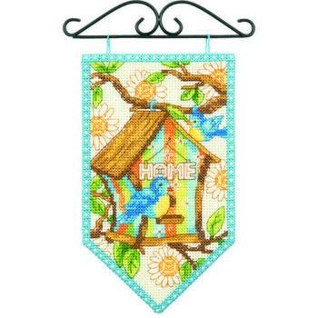 """72-74133 • Набор для вышивания крестом """"Весна"""" • """"Spring Mini Banner"""" DIMENSIONS"""