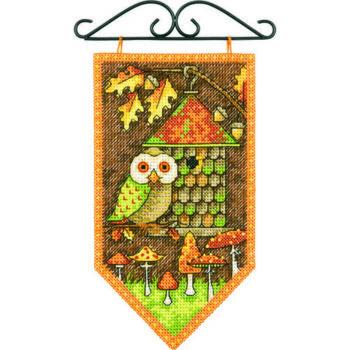 """72-74135 • Набор для вышивания крестом """"Осень"""" • """"Autumn Mini Banner"""" DIMENSIONS"""