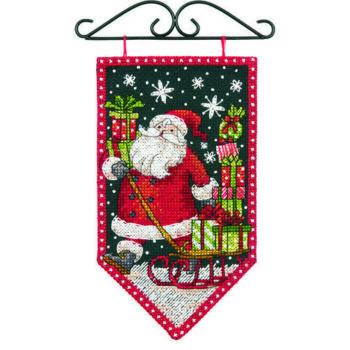 "72-74136 • Набор для вышивания крестом ""Зима"" • ""Winter Mini Banner"" DIMENSIONS"