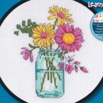 """72-74550 • Набор для вышивания крестом """"Летние цветы"""" • """"Summer Flower"""" DIMENSIONS"""