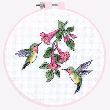 """72407 • Набор для вышивания крестом """"Колибри"""" • """"Hummingbird Duo"""" DIMENSIONS"""
