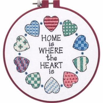 """72408 • Набор для вышивания крестом """"Дом и сердце"""" • """"Home and Heart"""" DIMENSIONS"""