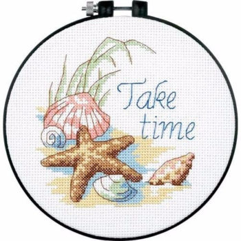 """73060 • Набор для вышивания крестом """"Много времени"""" • """"Take Time"""" DIMENSIONS"""