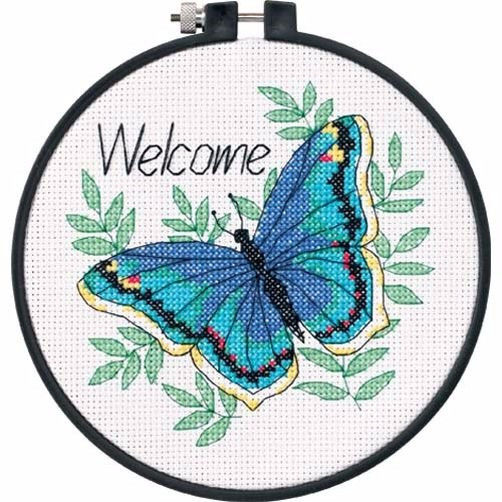 "73147 • Набор для вышивания крестом ""Бабочка"" • ""Welcome Butterfly"" DIMENSIONS"