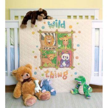 """73249 • Набор для вышивания одеяла крестом """"Дикие вещи"""" • """"Wild Thing Quilt"""" DIMENSIONS"""