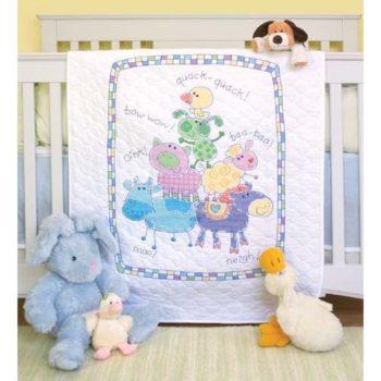 """73258 • Набор для вышивания одеяла крестом """"Ферма"""" • """"Farm Friends Quilt"""" DIMENSIONS"""
