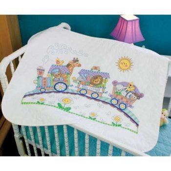 """73427 • Набор для вышивания одеяла крестом """"Детский Экспресс"""" • """"Baby Express Quilt"""" DIMENSIONS"""
