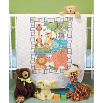 """73507 • Набор для вышивания одеяла крестом """"Зоопарк"""" • """"ModZoo Quilt"""" DIMENSIONS"""