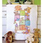 """73537 • Набор для вышивания одеяла крестом """"Детский комодик"""" • """"Baby Drawers Quilt"""" DIMENSIONS"""