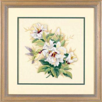 """01544 • Набор для вышивания гладью """"Гибискус//Hibiscus Floral"""" DIMENSIONS"""