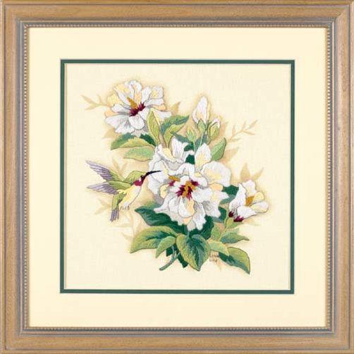 1544 Набор для вышивания гладью «Гибискус» • «Hibiscus Floral» DIMENSIONS