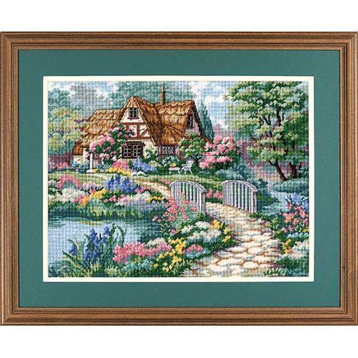 """02461 • Набор для вышивания гобеленом """"Умиротворенный коттедж//Cottage Retreat"""" DIMENSIONS"""