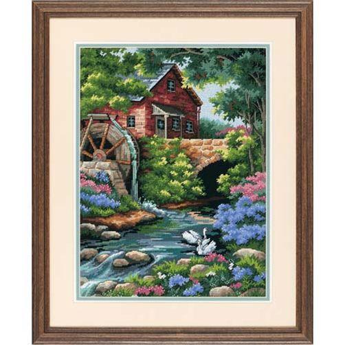"""02484 • Набор для вышивания гобеленом """"Старая мельница//Old Mill Cottage"""" DIMENSIONS"""