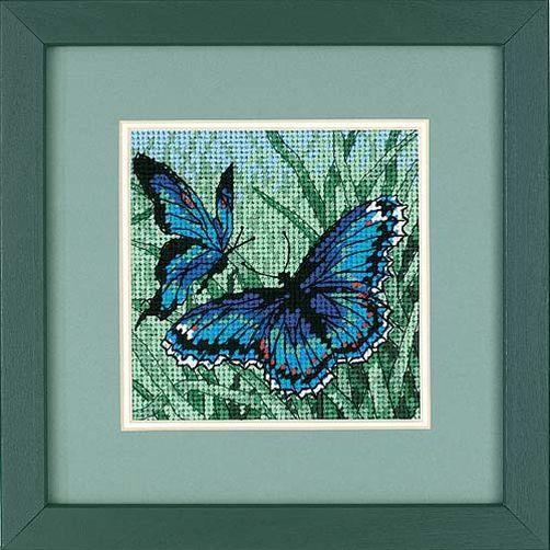 7183 Набор для вышивки — гобелен «Дуэт бабочек» • «Butterfly Duo» DIMENSIONS