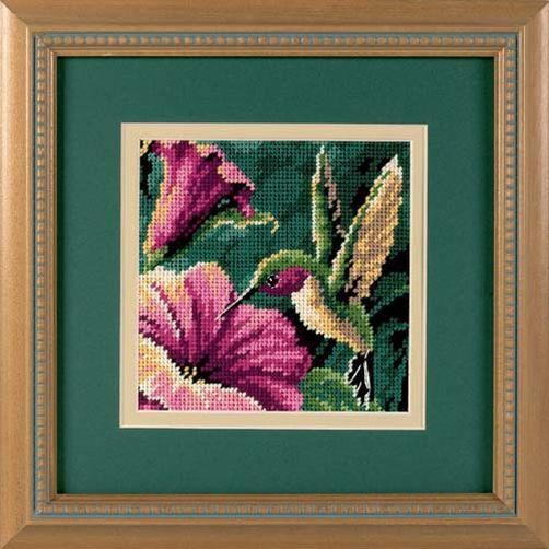 """07210 • Набор для вышивания гобеленом """"Колибри//Hummingbird Drama"""" DIMENSIONS"""