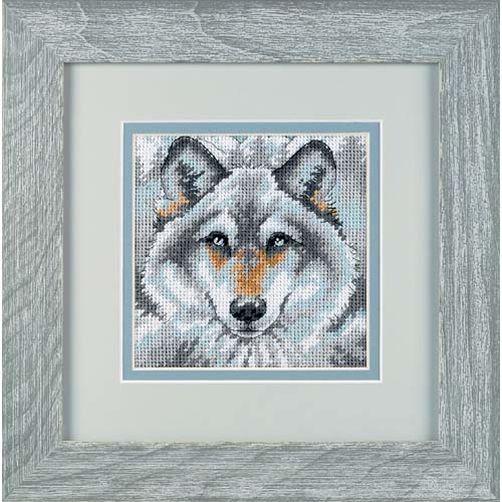 "07211 • Набор для вышивания гобеленом ""Зов волка//Call of the Wolf"" DIMENSIONS"