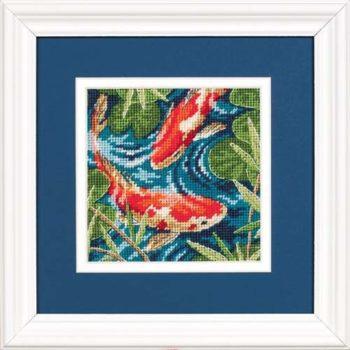 """07214 • Набор для вышивания гобеленом """"Золотык рыбки//Koi Pond"""" DIMENSIONS"""