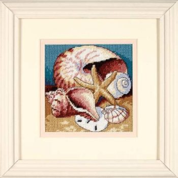 "07219 • Набор для вышивания гобеленом ""Ракушки//Shell Collage"" DIMENSIONS"