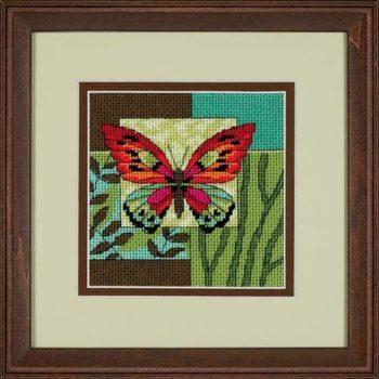 "07222 • Набор для вышивания гобеленом ""Бабочка//Butterfly Impression"" DIMENSIONS"