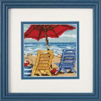 """07223 • Набор для вышивания гобеленом """"Пляжные кресла//Beach Chair Duo"""" DIMENSIONS"""