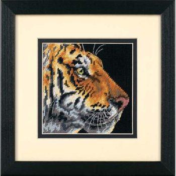 """07225 • Набор для вышивания гобеленом """"Профиль тигра//Tiger Profile"""" DIMENSIONS"""