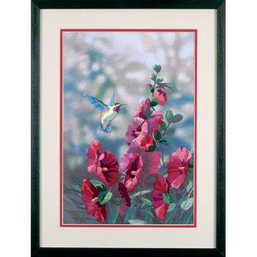 11127 Набор для вышивания гладью «Цветущие мальвы» • «Hollyhocks in Bloom» DIMENSIONS