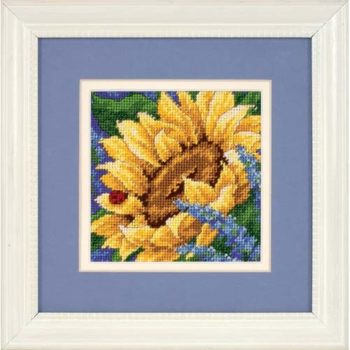 """17066 • Набор для вышивания гобеленом """"Подсолнечник и Божья коровка//Sunflower and Ladybug"""" DIMENSIONS"""