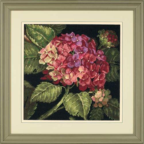 20053 Набор для вышивки — гобелен «Цветение гортензии» • «Hydrangea Bloom» DIMENSIONS