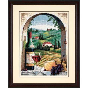 """20054 • Набор для вышивания гобеленом """"Тосканский вид//Tuscan View"""" DIMENSIONS"""