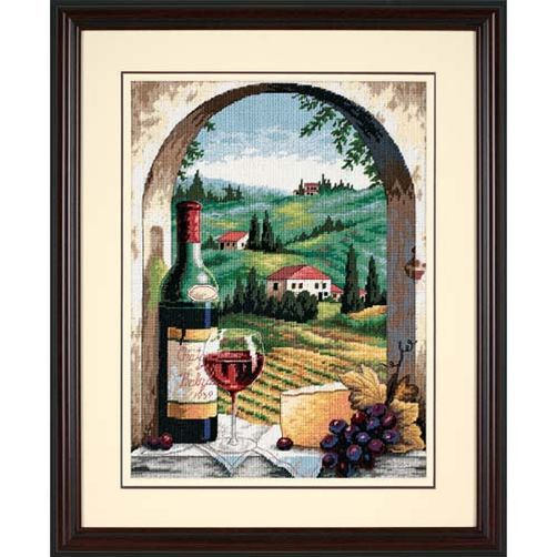 20054 Набор для вышивки — гобелен «Тосканский пейзаж» • «Tuscan View» DIMENSIONS