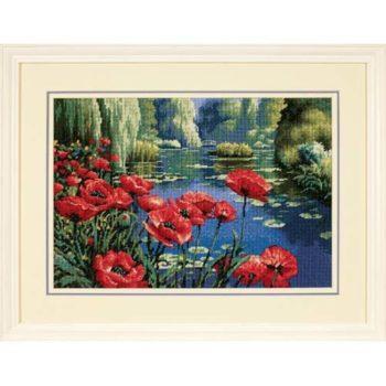 "20066 • Набор для вышивания гобеленом ""Маки у озера//Lakeside Poppies"" DIMENSIONS"