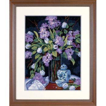 """20067 • Набор для вышивания гобеленом """"Тюльпаны и сирень//Tulips & Lilacs"""" DIMENSIONS"""