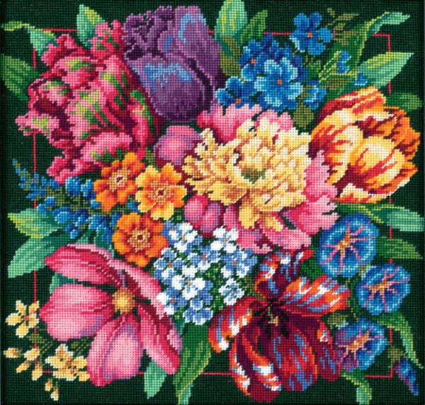 72-120011 Набор для вышивки — гобелен «Цветочный блеск» • «Floral Splendor» DIMENSIONS