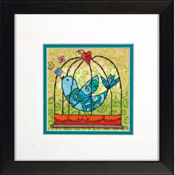 """71-07235 • Набор для вышивания гобеленом """"Птичка//Birdie"""" DIMENSIONS"""