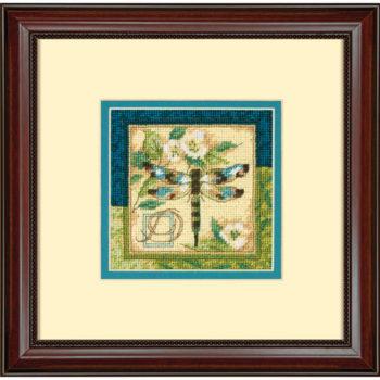 """71-07238 • Набор для вышивания гобеленом """"Стрекоза//Dragonfly"""" DIMENSIONS"""