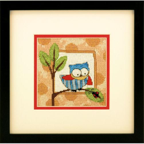 """71-07239 • Набор для вышивания гобеленом """"Любознательная сова//Curious Owl"""" DIMENSIONS"""