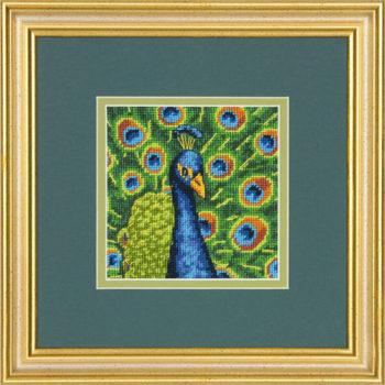 """71-07242 • Набор для вышивания гобеленом """"Красочный павлин//Colorful Peacock"""" DIMENSIONS"""