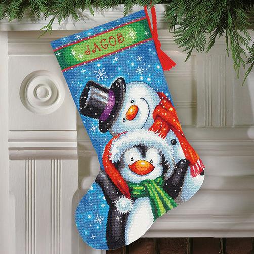 71-09153 Набор для вышивки — гобелен «Полярная парочка. Чулок» • «Polar Pals Stocking» DIMENSIONS