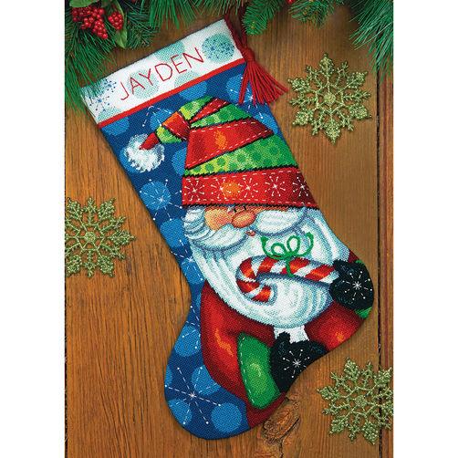 71-09154 Набор для вышивки — гобелен «Сладкий санта. Чулок» • «Sweet Santa Stocking» DIMENSIONS