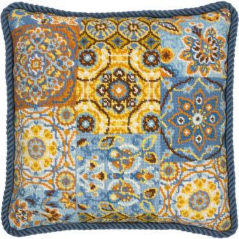 """71-20081 • Набор для вышивания гобеленом """"Узоры на синем//Patterns On Blue"""" DIMENSIONS"""