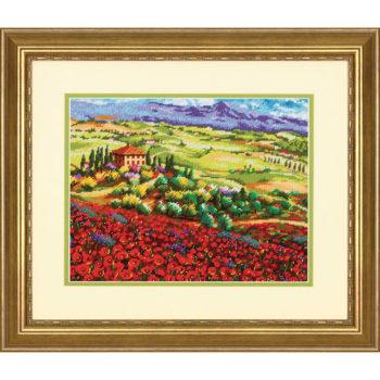 """71-20084 • Набор для вышивания гобеленом """"Тосканские маки//Tuscan Poppies"""" DIMENSIONS"""