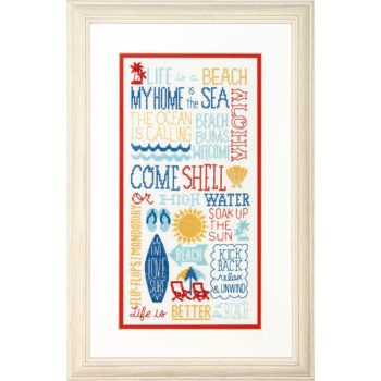 """70-35351 • Набор для вышивания крестом """"Веселье на солнце"""" • """"Fun in the Sun"""" DIMENSIONS"""