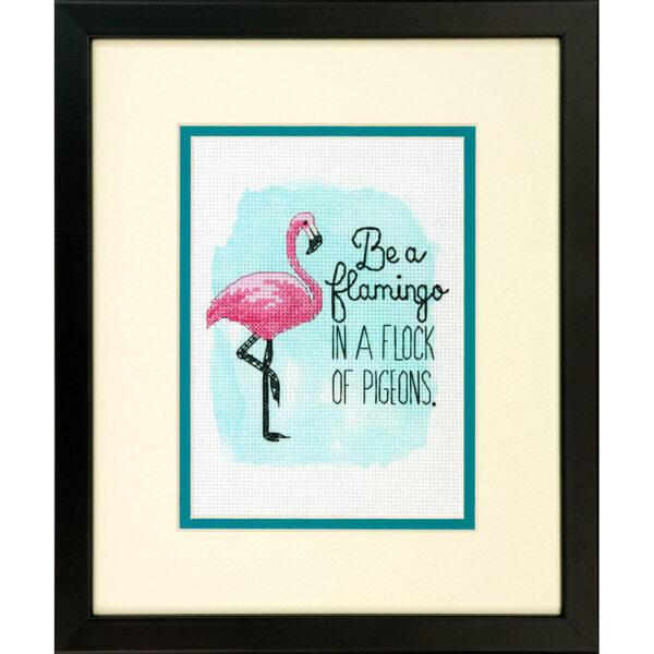 """70-65168 • Набор для вышивания крестом """"Быть фламинго"""" • """"Be a Flamingo"""" DIMENSIONS"""