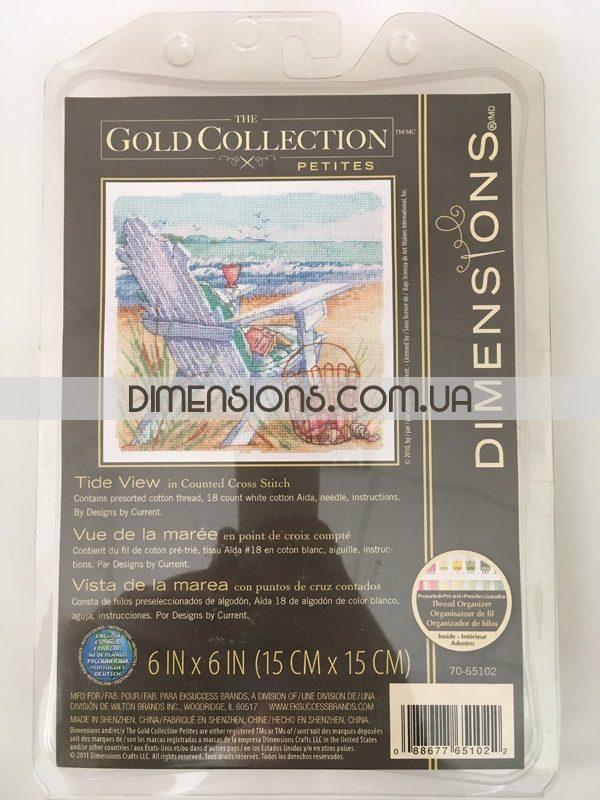 """70-65102 • Набор для вышивания крестом """"Прилив"""" • """"Tide View"""" DIMENSIONS Gold Collection Petites"""
